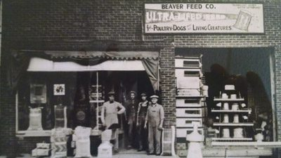 old photo of storefront.