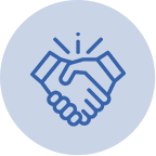 icon of shaking hands.
